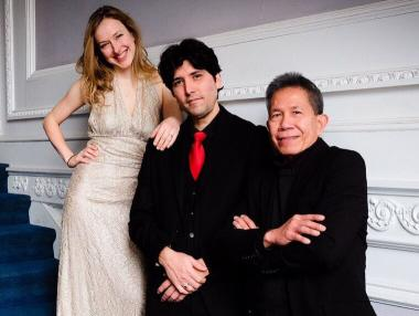 Caroline Reiner-Williams, cello; Angel Hernandez, violin; and Roy Imperio, piano
