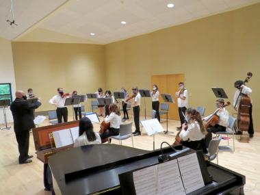 Summer 21 String Orchestra conducted by Tim Terranella